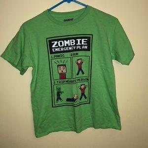 Other - Boys T-shirt zombie emergency plan size 18
